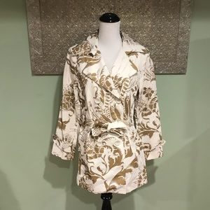 CAbi Wimbledon Courtside Belted Trench Style 461
